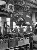 "Body Being Lowered on to ""Topolino"" Chassis by Workers on Assembly Line at Fiat Production Plant Premium Photographic Print by Alfred Eisenstaedt"