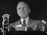 Pres. Harry S. Truman Making Campaign Speech Premium Photographic Print by Yale Joel