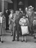 John Maynard Keynes and His Wife During their Trip to the Monetary Conf Photographic Print