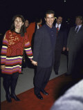 Actor Mel Gibson and Wife Robyn Premium Photographic Print by David Mcgough