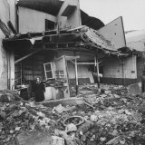 Destitute Victim of the June Earthquake Standing Outside Photographic Print