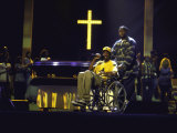 Rapper Snoop Doggy Dogg Performing in a Wheel Chair on Stage at Radio City Music Hall Metal Print
