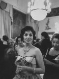Gina Lollobrigida During Her Visit Premium Photographic Print by Ed Clark