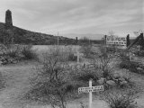 Pioneers' Graves in Boothill Graveyard Premium Photographic Print