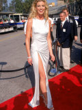 Country Singer Faith Hill in Silver Gown at Country Music Awards at Universal Ampitheater Premium Photographic Print by Mirek Towski