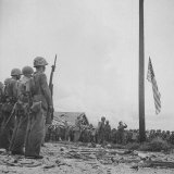 Flag Raising on Guam Photographic Print