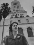 Los Angeles City Council Woman Mrs. Rosalind Wyman Premium Photographic Print