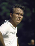 Golf Pro Arnold Palmer Squinting Against Sunlight During Match Metal Print by John Dominis