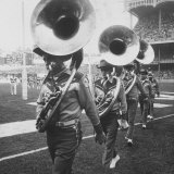 The Baltimore Colts' Marching Band Leaving the Field Photographic Print