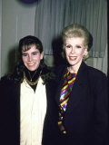 Comedienne Joan Rivers and Daughter Melissa Premium Photographic Print by Ann Clifford