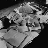 Littered Desk in Study Belonging to Albert Einstein Photographic Print by Ralph Morse