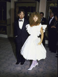 Director Producer Steven Spielberg and Wife, Actress Amy Irving Premium Photographic Print by Kevin Winter