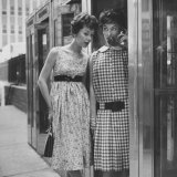 Dresses Stressing the Misplaced Belt Photographic Print by Nina Leen
