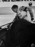 Matador Luis Miguel Dominguin During Bullfight Reproduction photographique Premium