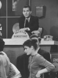 "Dick Clark on His TV Show the ""American Bandstand"" Premium Photographic Print"