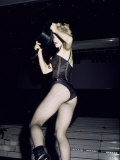 Singer Madonna Performing Premium Photographic Print by David Mcgough