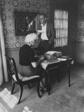 Author Vladimir Nabokov Dictating to His Wife Premium Photographic Print by Carl Mydans