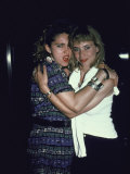 Singer Madonna and Actress Rosanna Arquette Premium Photographic Print by David Mcgough