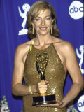 Actress Allison Janney Holding Her Award in Press Room at Primetime Emmy Awards Premium Photographic Print by Mirek Towski