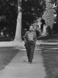 Author Vladimir Nabokov Walking Down Sidewalk Premium Photographic Print by Carl Mydans