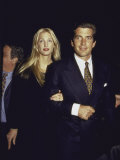 John F. Kennedy Jr. and Wife Carolyn at George Magazine's 2nd Anniversary Party Premium Photographic Print by Dave Allocca