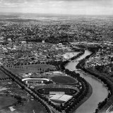 Ariel View of Melbourne and the Yarra River Photographic Print by John Dominis
