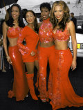 Musical Group Destiny's Child, All Wearing Red Outfits, at Soul Train Music Awards Premium Photographic Print by Mirek Towski