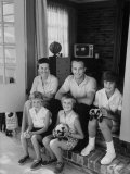 Astronaut Alan B. Shepard Sitting with His Family Premium Photographic Print by Ralph Morse