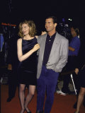 "Actors Rene Russo and Mel Gibson at Film Premiere of their ""Lethal Weapon 3"" Premium Photographic Print by David Mcgough"