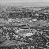 Ariel View of Stadium Where Olympics Took Place Photographic Print by John Dominis
