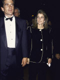 John F. Kennedy Jr. and Sister Caroline Kennedy Schlossberg Premium Photographic Print by Dave Allocca