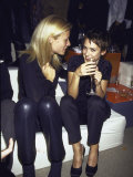 Actress Gwyneth Paltrow and Winona Ryder at Armani Grand Opening Premium Photographic Print by Dave Allocca