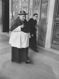 Pope John XXIII Arriving Just before the Papal Election Premium Photographic Print by Dmitri Kessel