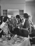 Singer Ricky Nelson with Fans Premium Photographic Print by Ralph Crane