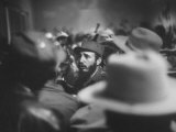 Rebel Leader Fidel Castro Being Cheered by the Crowds on His Victorious March to Havana Premium Photographic Print