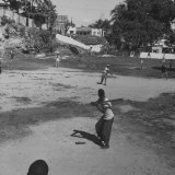 Young Boys Playing Baseball Photographic Print