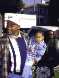 Actor Rap Artist Will Smith and Son Premium Photographic Print by Milan Ryba