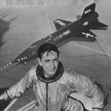 Pilot Scott Crossfield Standing in Front of the X-15 Photographic Print by Allan Grant