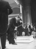Music Conductor Leonard Bernstein Premium Photographic Print by Yale Joel