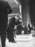 Music Conductor Leonard Bernstein Premium Photographic Print by Yale Joel