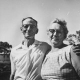 Typical Retired Couple from Ohio, Fred Kromer and Wife Photographic Print