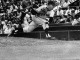 Baseball Player Johnny Antonelli Pitching a Ball Premium Photographic Print