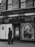 Storefront Church in Harlem Premium Photographic Print by Andreas Feininger