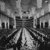 200 International Debutantes Dancing Polonaise at Opera Centennial Party Photographic Print