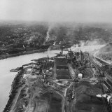 Factories Along the Ohio River Photographic Print