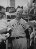 White Sox Manager Al Lopez in Dressing Room after Game Premium Photographic Print