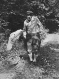 Author Vladimir Nabokov Chasing Butterflies Premium Photographic Print by Carl Mydans