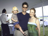 Director Bart Freundlich and Girlfriend, Actress Julianne Moore, and their Son Premium Photographic Print by Marion Curtis