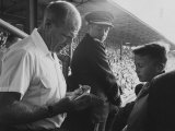 Bill Veeck During the 1959 World Series Metal Print