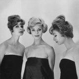 Models Posing in Wigs Photographic Print by Nina Leen